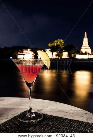 cocktail glass with nice view