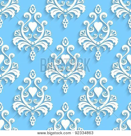 Seamless wallpapers in the style of Baroque. Can be used for backgrounds and page fill web design. V