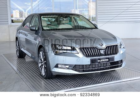 Exhibition Of New Skoda Superb