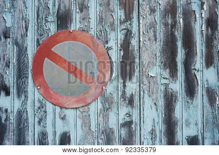 grungy no parking sign background