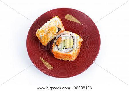 California Roii Maki Sushi With Masago