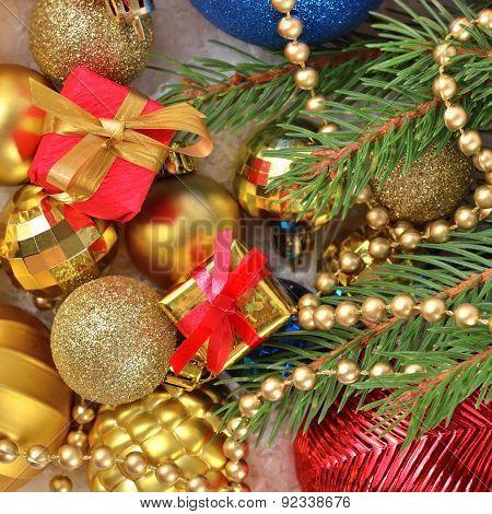 Varicolored Christmas Decorations