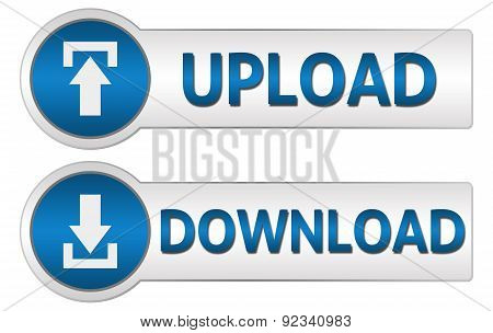 Upload Download Blue Buttons