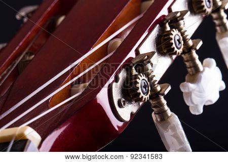 Fingerboard Of Classic Guitar