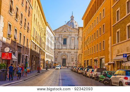 Basilica Of Saint Andrea Della Valle In Rome, Italy