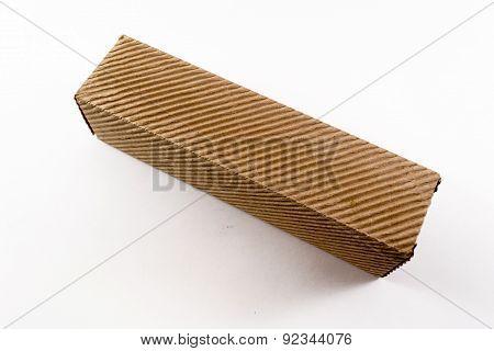 Closeup Of Corrugated Cardboard Box