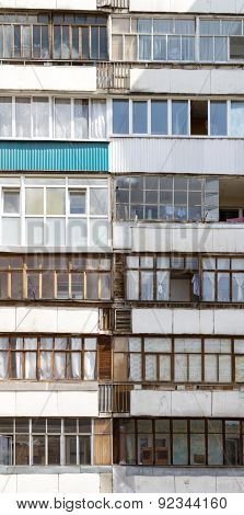 Russian Building Windows On A High-res