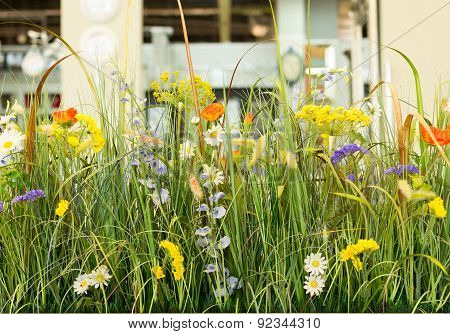 Artificial Plastic Plants Floral Display