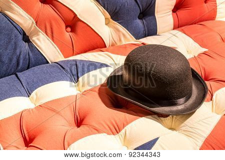 Union Jack Flag English Sofa And Bowler Hat