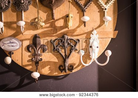 Assorted Clothes Hanging Hooks