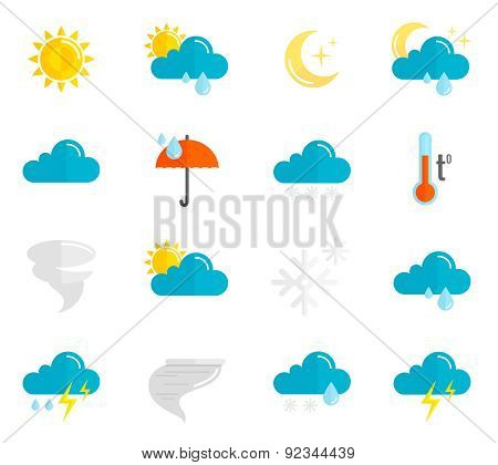 Weather Icons Flat Set