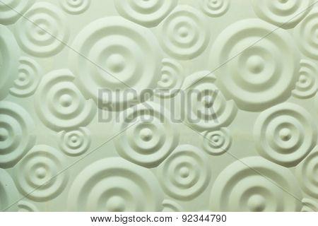 Spiral Ripple White Wall