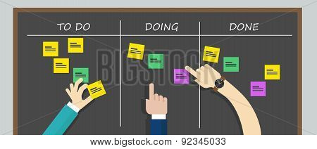 kan ban to do list board kanban task