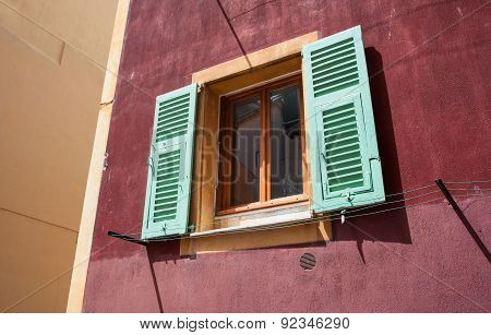 colourful window shutters background