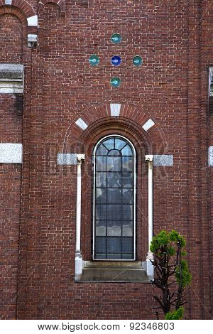 Rose Window  Italy  Lombardy     In  The Cardano    Closed Brick   Tower   Tile
