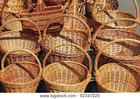 Straw Basket For Sale.