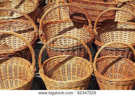 Straw Basket Taken Closeup.