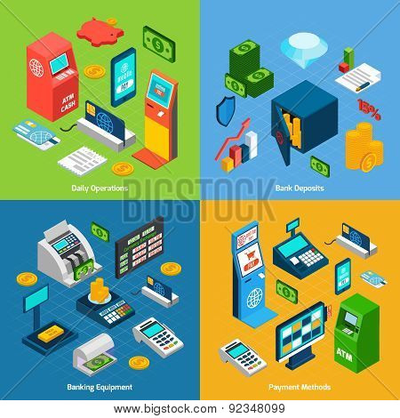 Isometric Banking Set