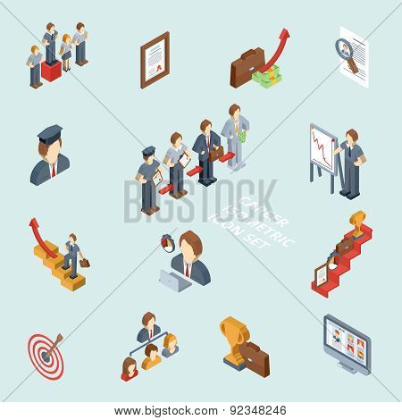 Career Isometric Set
