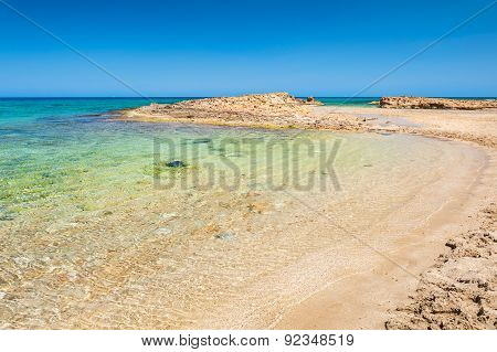 Beautiful Wild Beach With Clear Turquoise Water