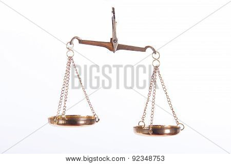 Golden Balance Scales