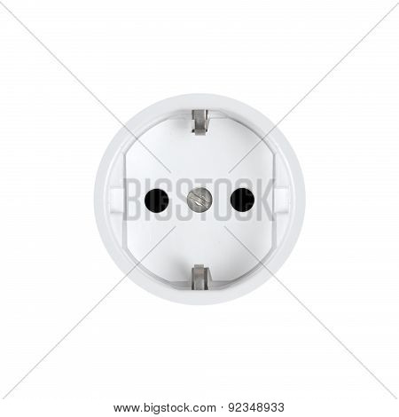 Electric Household Outlet On A White Background