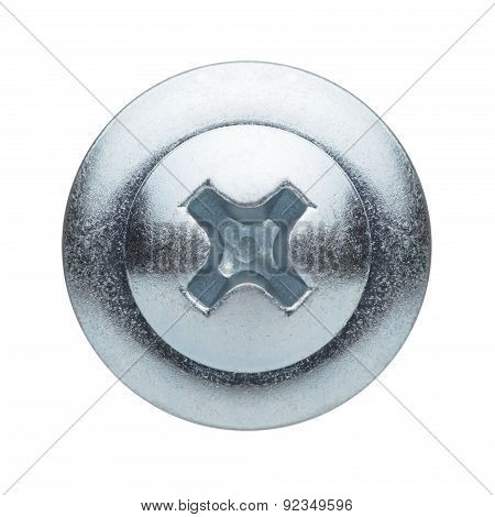 Screw Head Isolated On A White Background