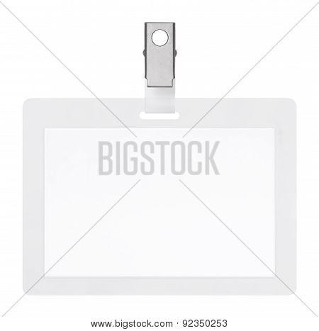 Blank Badge Isolated On White Background