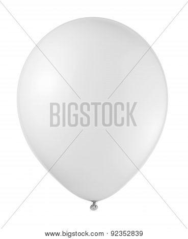 White Balloon Soaring On A White Background