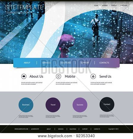 One Page Website Template with Header Design