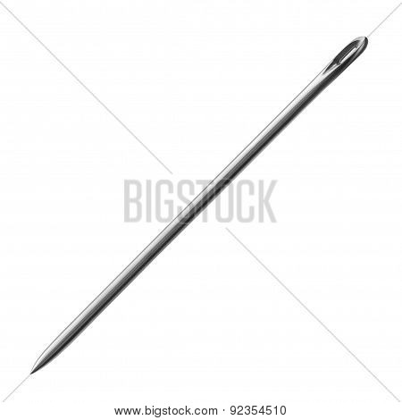 Sewing Needle On A White Background