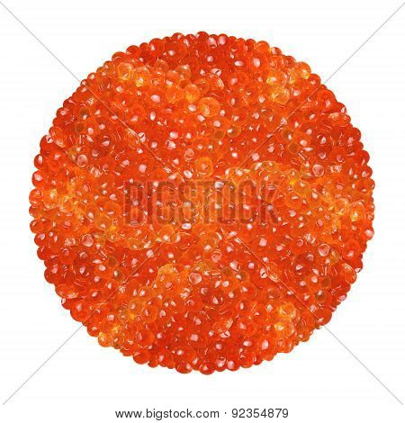 Red Caviar Isolated On A White Background