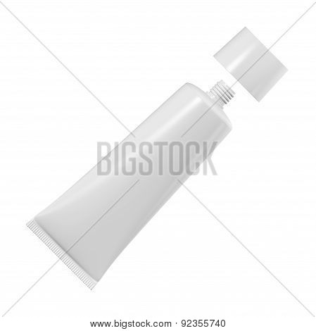 Tube For Cream Or Toothpaste Or Glue On A White Background