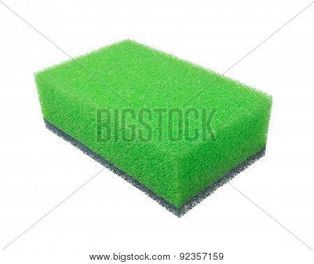 Sponge On The White Background