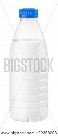 Bottle Of Milk Or Kefir On A White