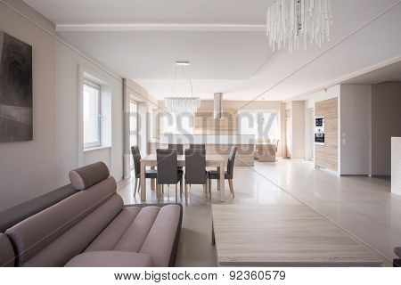 Dining Table In Lounge