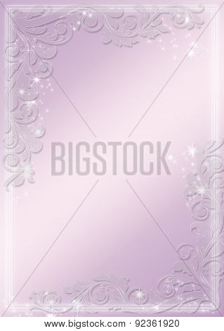 Modern purple banners - astral and flower theme. Vector background