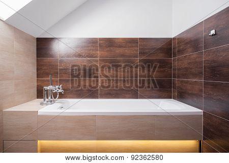 Fancy Bathtub In Washroom