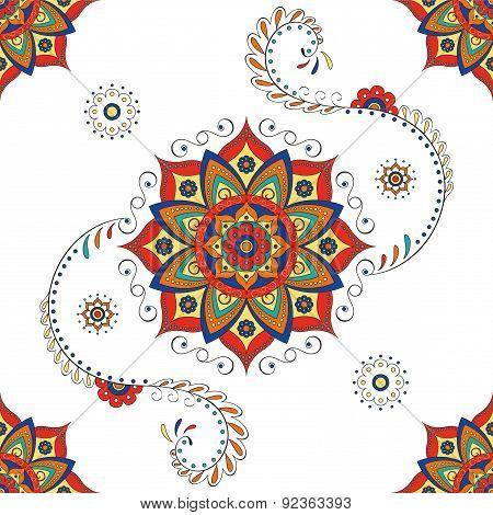Hindu mandala - Lotus flower pattern