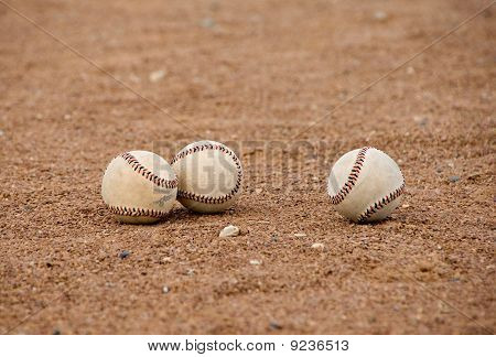 Baseballs on the Field