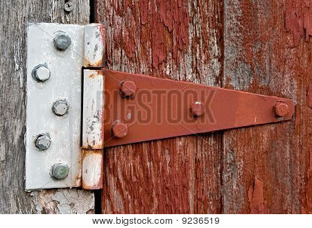 Hinge on Old Barn Door
