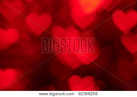 red heart shape holiday photo as background