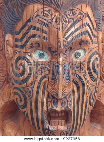 Traditional Maori Wood Carving