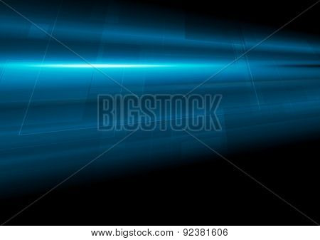Dark blue tech motion abstract background. Vector design
