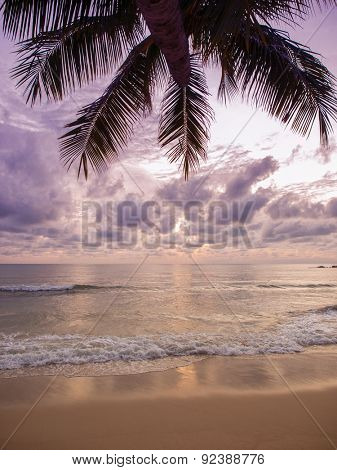 Sea sunrise in Koh Samui island, Thailand.