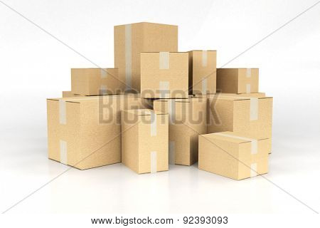 3D rendering of a pile of boxes