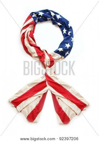 American rosette ribbon. 4th of July decoration from american flag.