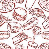 stock photo of hamburger  - Fast food - JPG