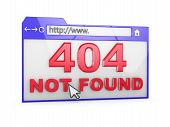 image of not found  - Internet browser with the inscription  - JPG