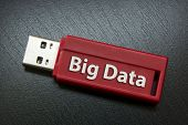 "pic of memory stick  - ""Big Data"" Writing On A Red Usb Memory Stick - JPG"